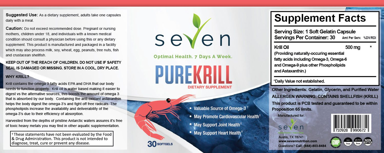 PureKrill Supplement Facts