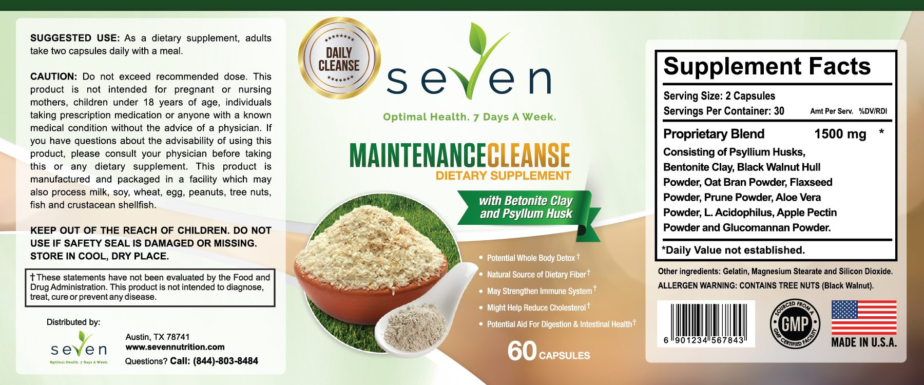 Super Cleanser Supplement Facts